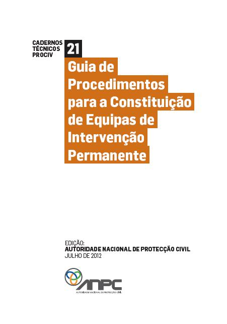 CTP21 Guia de Procedimentos para a Constituição de Equipas de Intervenção Permanente