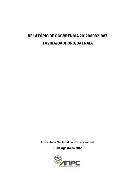 Relatório de ocorrência 2012080021067 Tavira_Cachopo_Catraia