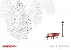 Postal de Natal Bombeiros