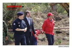 Secretário de Estado da Protecção Civil durante um treino operacional em Mangualde