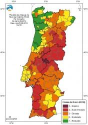 Risco de Incêndio para dia 15 (IPMA)