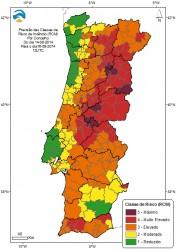 Risco de Incêndio para dia 16 (IPMA)