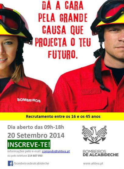 cartaz junta-te aos bombeiros