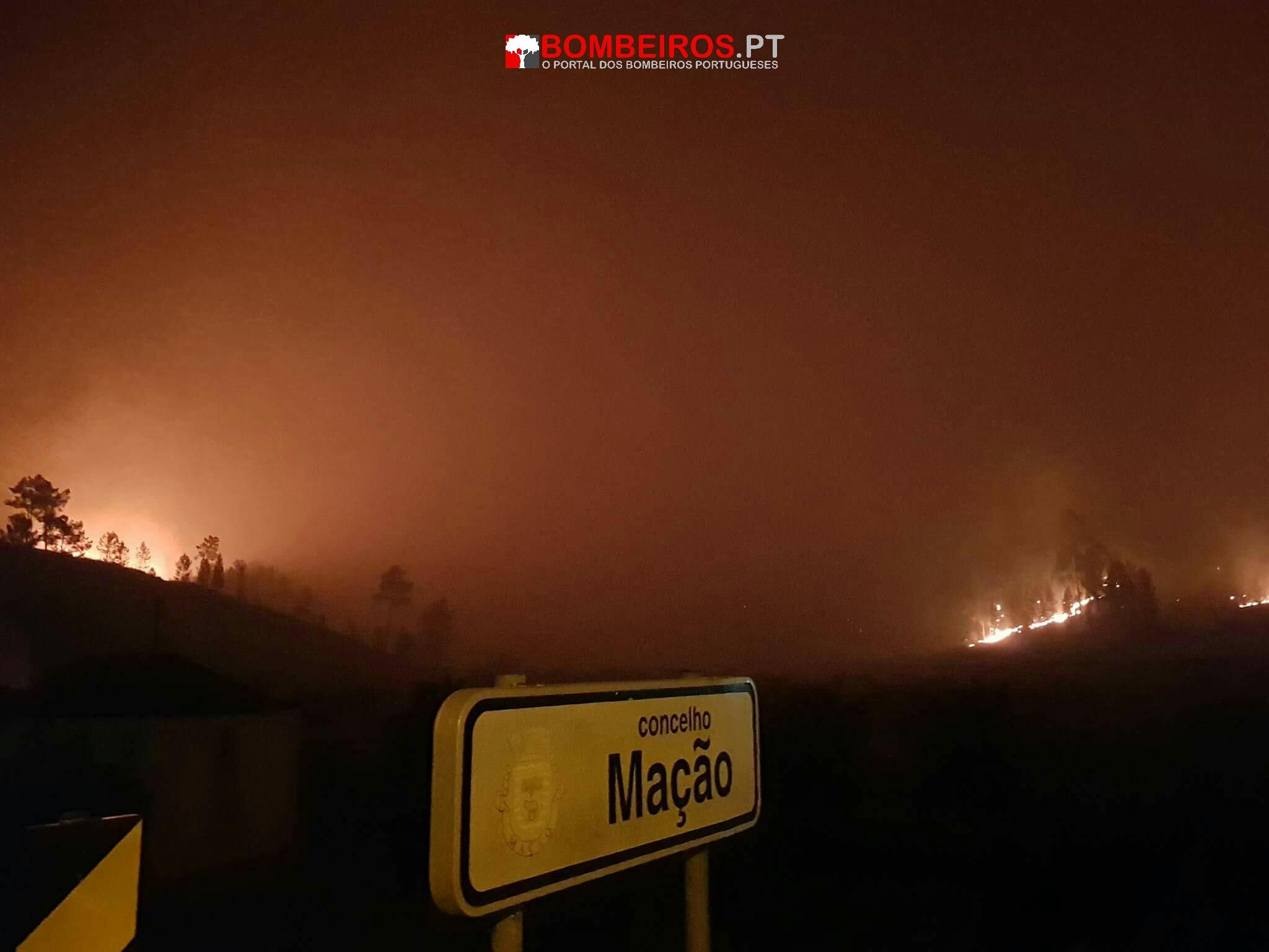 Resultado de imagem para Incêndios por controlar em Mação, Sertã, Proença-a-Nova e Vila Velha de Ródão