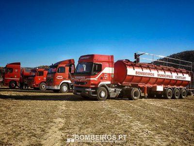 Camiões-cisterna dos bombeiros ajudam a garantir abastecimento à região de Viseu